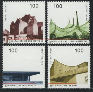 1906-1909 Einzelmarken aus Block 37 Architektur 1997, 4 Werte, Satz **