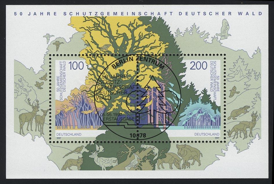Block 38 Schutzgemeinschaft Deutscher Wald SDW 1997, ESSt Berlin 0