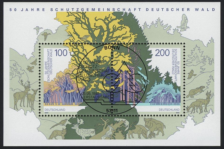 Block 38 Schutzgemeinschaft Deutscher Wald SDW 1997, ESSt Bonn 0
