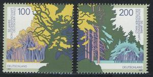 1918-1919 Einzelmarken aus Block 38 Schutzgemeinschaft Deutscher Wald, Satz **