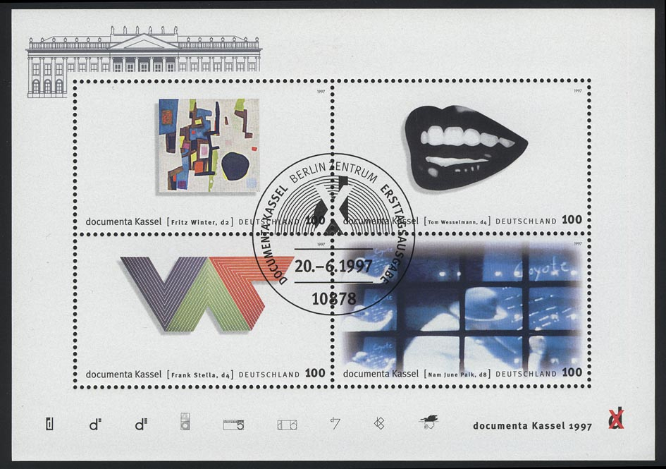 Block 39 dokumenta10 Kassel 1997 mit ESSt Berlin 0