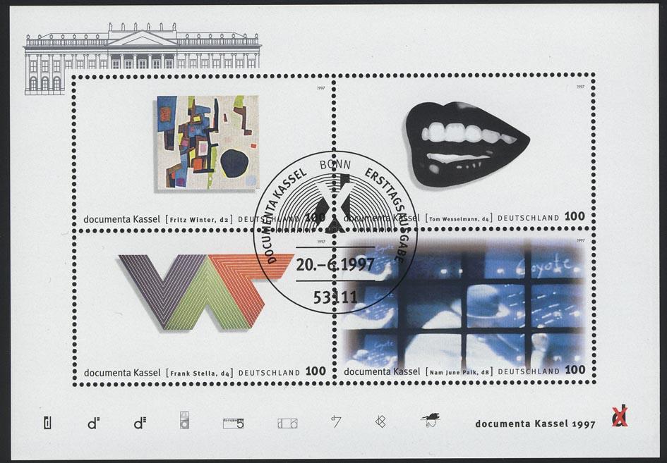 Block 39 dokumenta10 Kassel 1997 mit ESSt Bonn 0