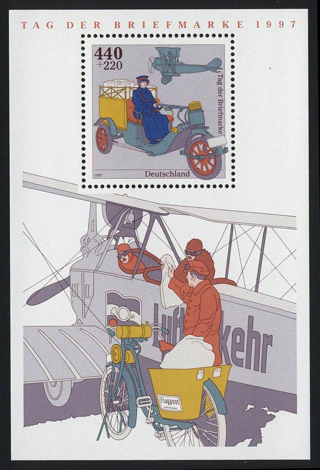 Block 41 Tag der Briefmarke - Posttransport 1997, postfrisch 0