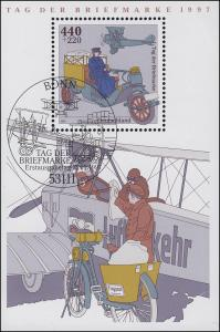 Block 41 Tag der Briefmarke - Posttransport 1997, ESSt Bonn