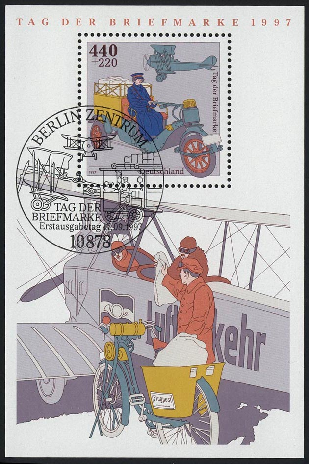 Block 41 Tag der Briefmarke - Posttransport 1997, ESSt Berlin 0