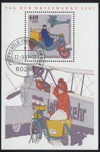 Block 41 Tag der Briefmarke - Posttransport 1997, VS-O Frankfurt/Main