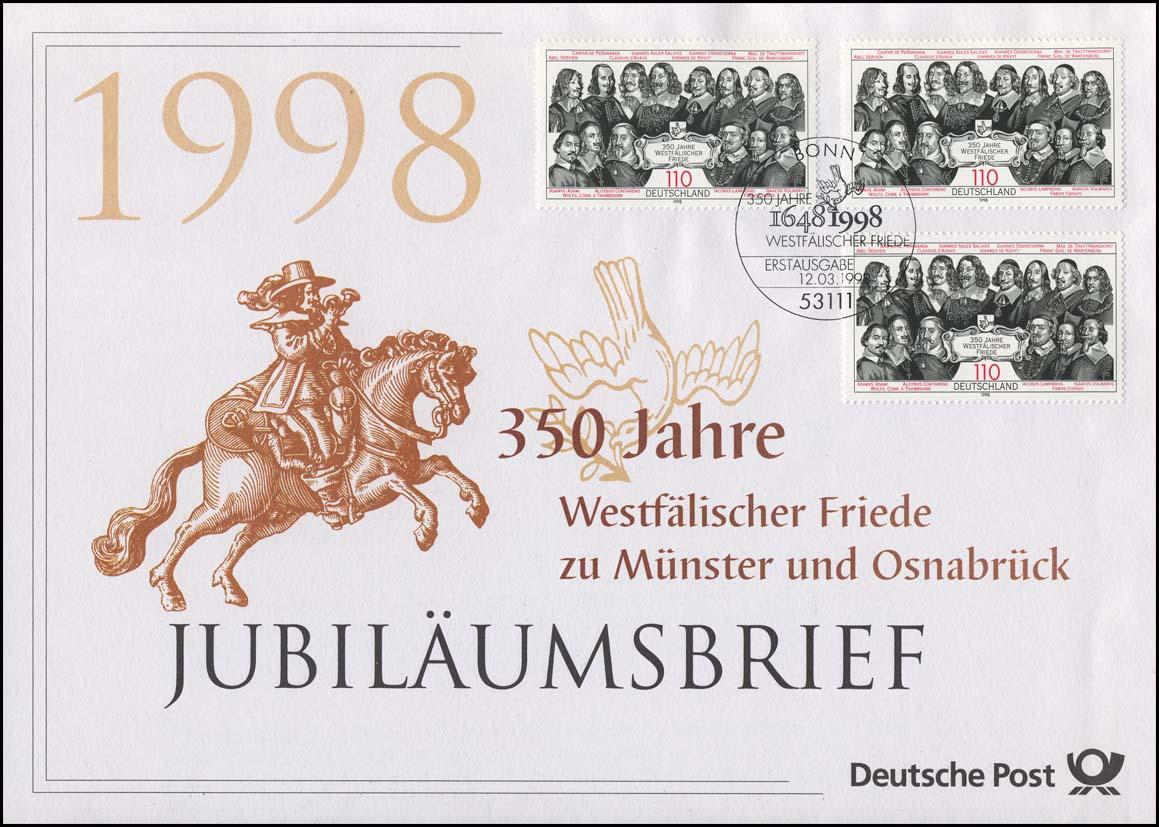 1979 Westfälischer Friede zu Münster und Osnabrück 1998 -  Jubiläumsbrief 0