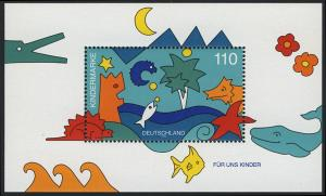 Block 42 Für uns Kinder - Meerestiere 1998, postfrisch