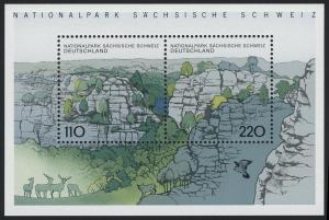 Block 44 Sächsische Schweiz und Elbsandsteingebirge 1998, postfrisch
