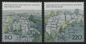 1997-1998 Einzelmarken aus Block 44 Sächsische Schweiz, 2 Werte, Satz **