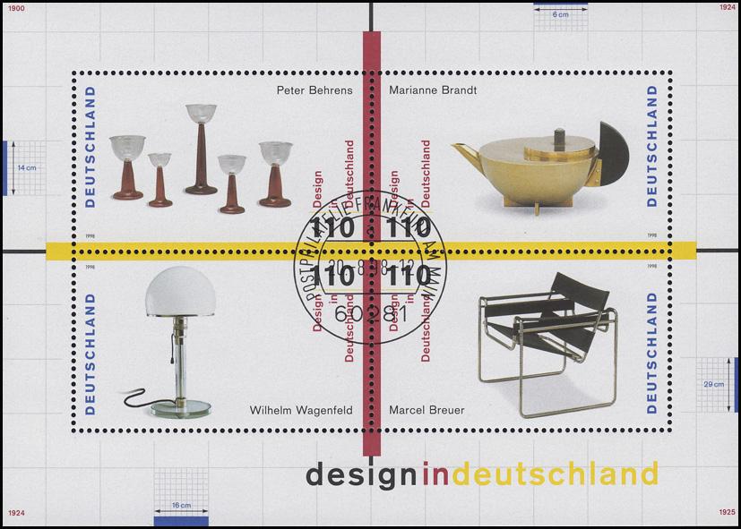 Block 45 Design in Deutschland 1998, ESSt Bonn 0