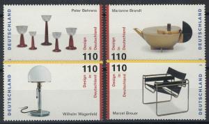2001-2004 Einzelmarken aus Block 45 Design, 4 Werte, Satz **