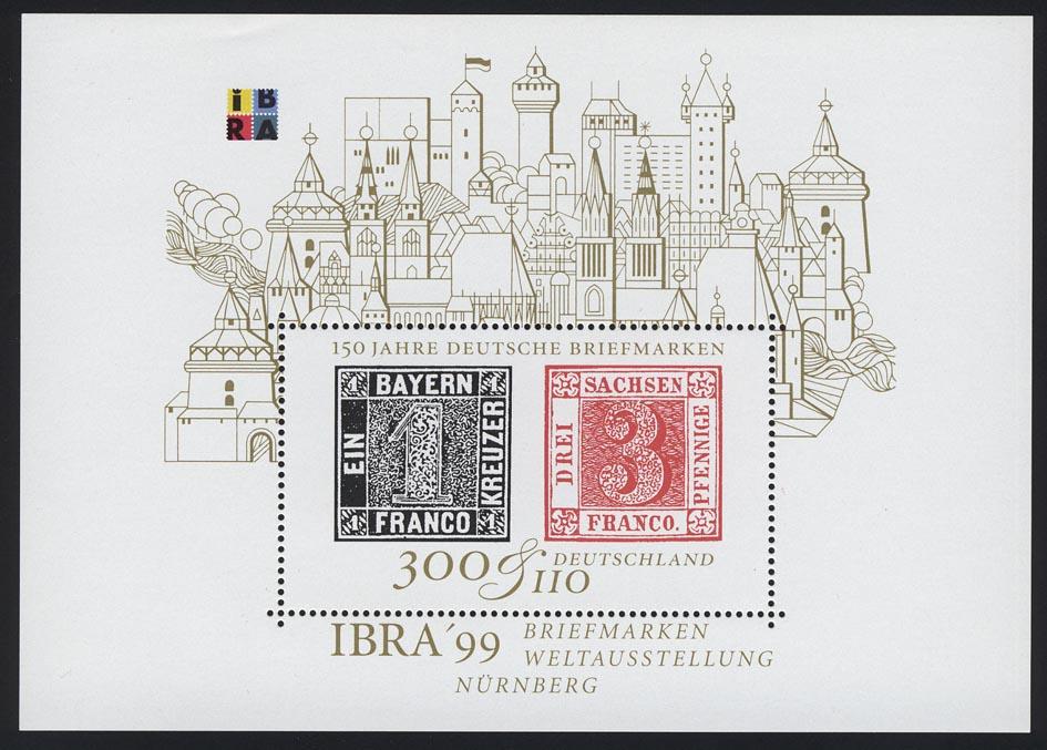 Block 46 IBRA Nürnberg 1999, postfrisch ** 0