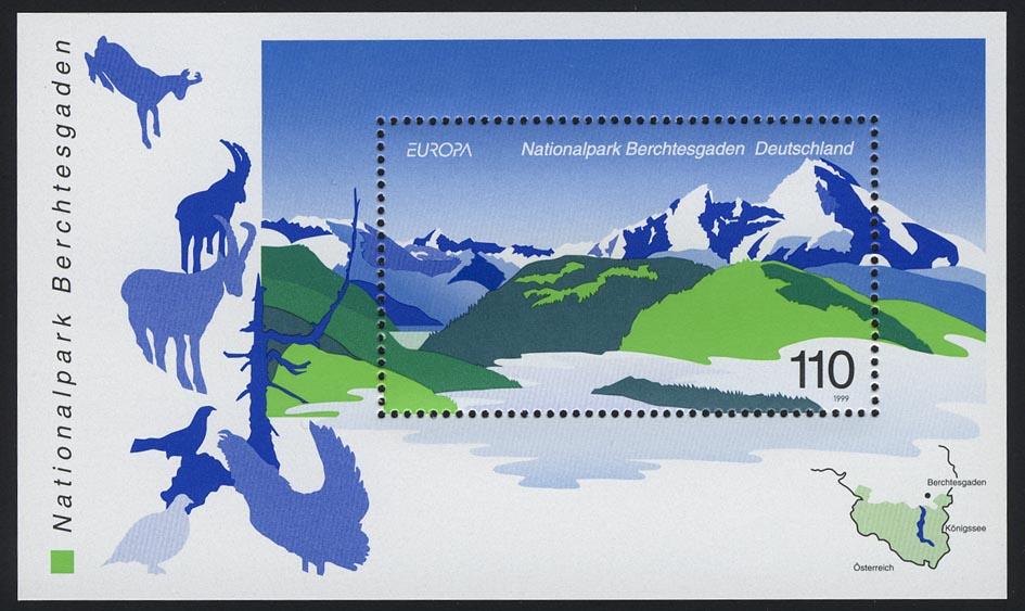 Block 47 EUROPA - Nationalpark Berchtesgaden 1999, postfrisch 0