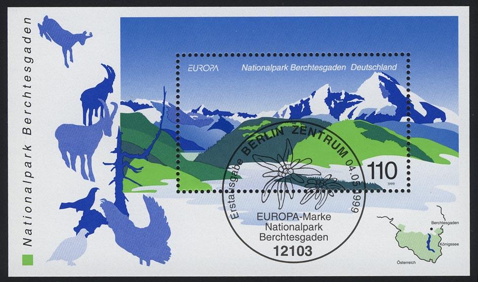 Block 47 EUROPA - Nationalpark Berchtesgaden 1999, ESSt Berlin 0