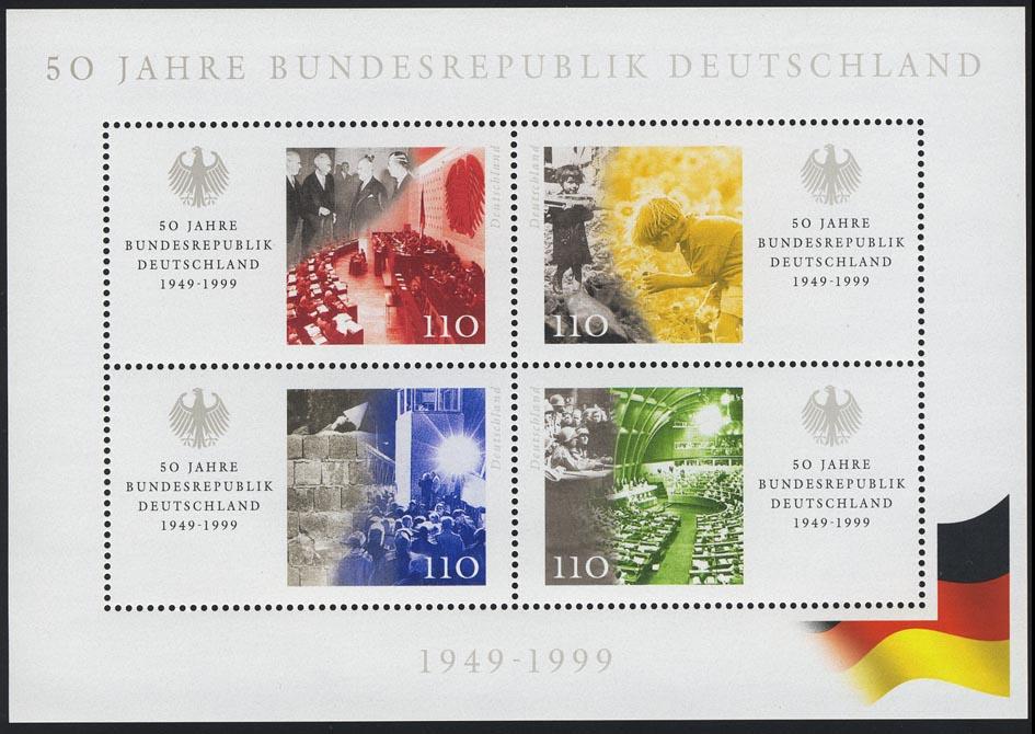 Block 49 50 Jahre Bundesrepublik, postfrisch 0