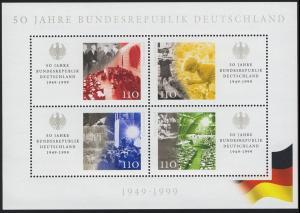 Block 49 50 Jahre Bundesrepublik, postfrisch