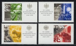2051-2054 Einzelmarken aus Block 49 Bundesrepublik, 4 Werte, Satz **
