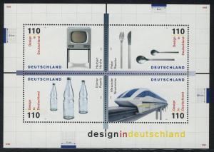Block 50 Design in Deutschland 1999, postfrisch