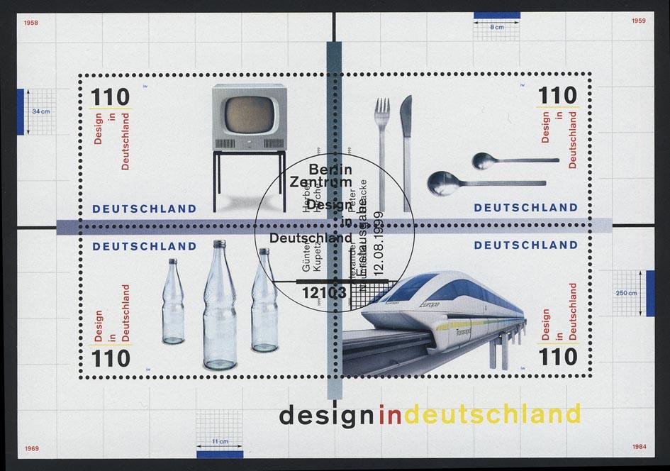 Block 50 Design in Deutschland 1999, ESSt Berlin 0