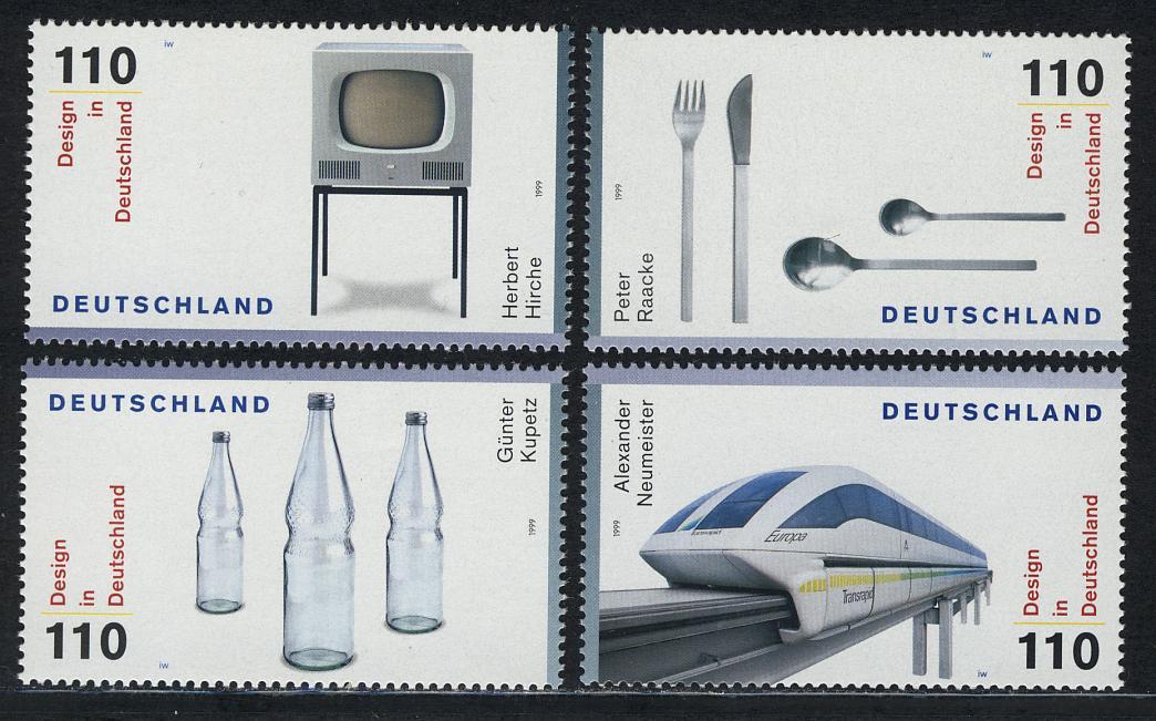 2068-2071 Einzelmarken aus Block 50 Design 1999, 4 Werte, Satz ** 0