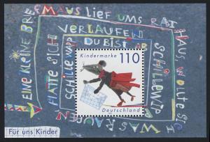 Block 51 Für uns Kinder - Maus mit Briefumschlag 1999, postfrisch