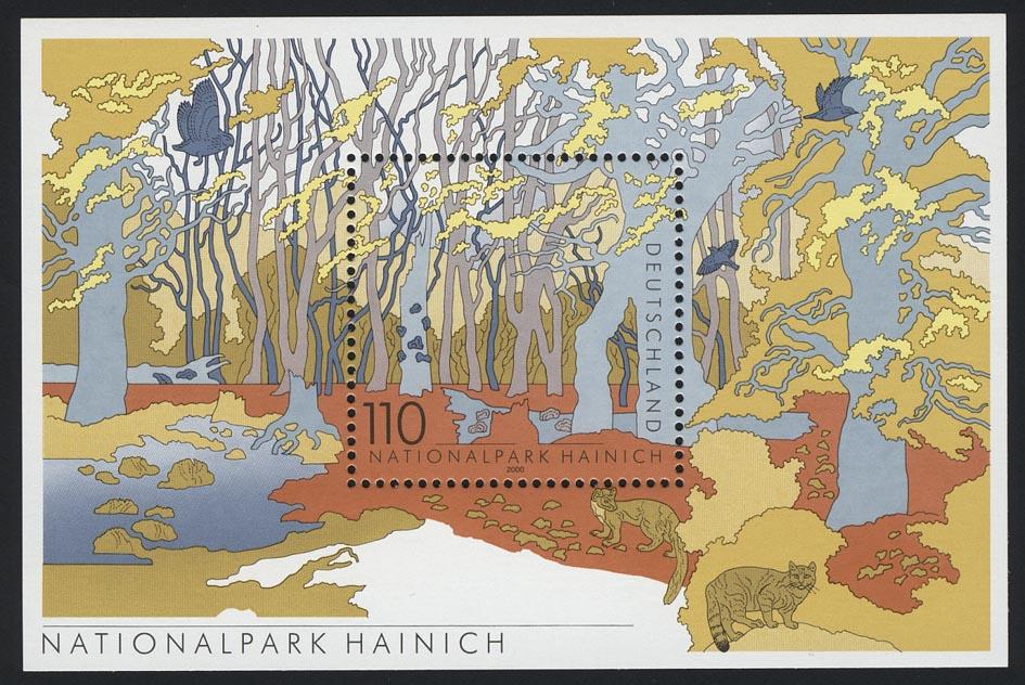 Block 52 Nationalpark Hainich 2000, postfrisch 0