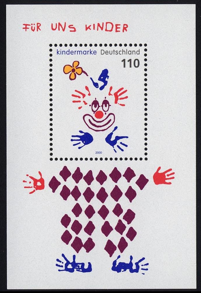 Block 53 Für uns Kinder - Clown 2000, postfrisch 0