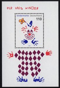 Block 53 Für uns Kinder - Clown 2000, postfrisch