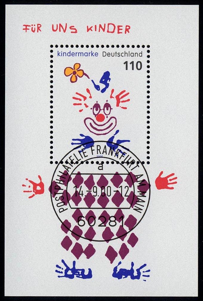 Block 53 Für uns Kinder - Clown 2000, VS-O Frankfurt/Main 0