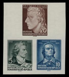 464-466B XII Einzelmarken aus Block 12 Schiller, Satz **