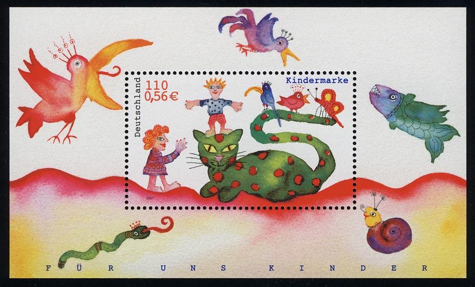 Block 55 Für uns Kinder - Kinder und Tiere 2001, postfrisch 0