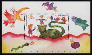 Block 55 Für uns Kinder - Kinder und Tiere 2001, postfrisch