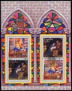 Block 56I Weihnachten 2001, Versandstelle Frankfurt/Main 8.11.2001 & ESSt Madrid