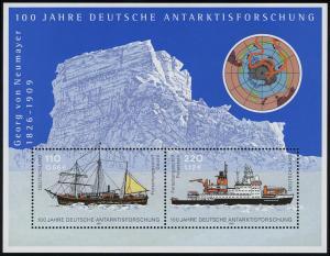 Block 57 Antarktisforschung 2001, postfrisch