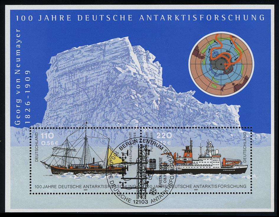 Block 57 Antarktisforschung 2001, ESSt Berlin 8.11.2001 0