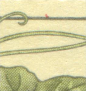 2694 Giftpflanzen 25 Pf: roter Fleck oben rechts, Feld 20,**