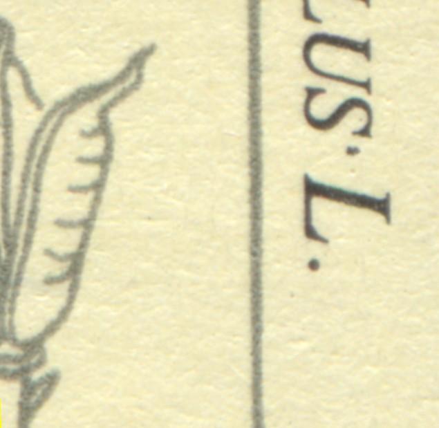 2695 Giftpflanzen 35 Pf: schwarzer Punkt neben dem S von NAPELLUS, Feld 22, ** 0