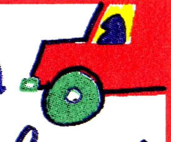 1954 Straßenverkehr - 10er-Bogen mit 2 PLF, Felder 1 und 6 ** 1