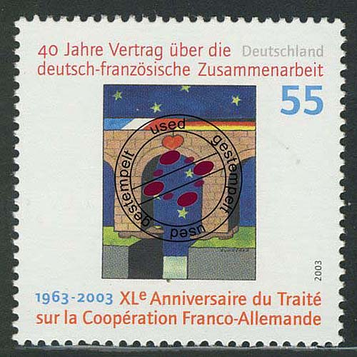 2311I Deutsch-französiche Zusammenarbeit mit Rastertype II, O 0