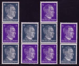 S290-293 Hitler aus Rollen, vier Zusammendrucke im Set **