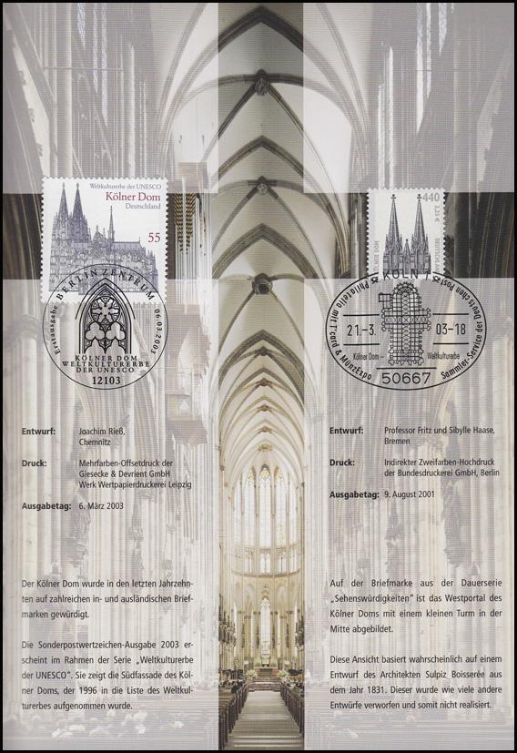 2329 UNESCO-Weltkulturerbe Kölner Dom - EB 2/2003 1