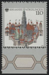 1965 Nördlingen - Verzähnung durch Deutschland, Unterrandstück, **