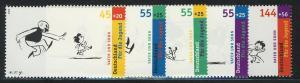 2349-2353 Einzelmarken aus Block 63 Jugend Vater und Sohn, 5 Werte, Satz **