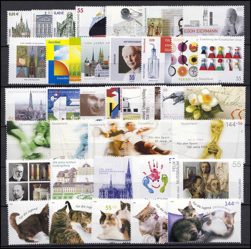 2374-2433 Deutschland Bund-Jahrgang 2004 komplett, postfrisch ** 0