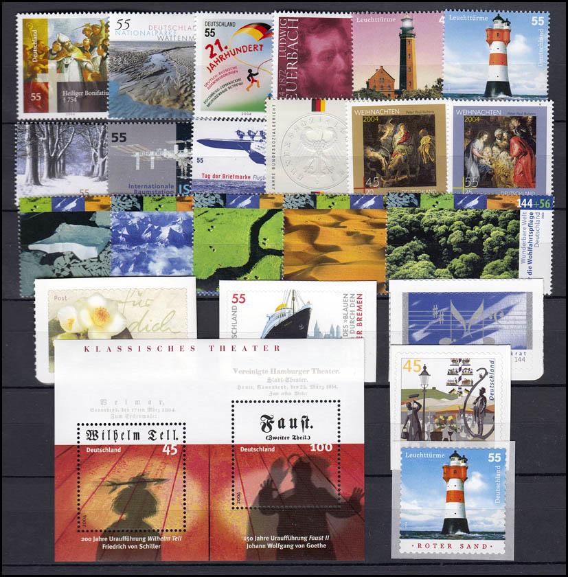 2374-2433 Deutschland Bund-Jahrgang 2004 komplett, postfrisch ** 1