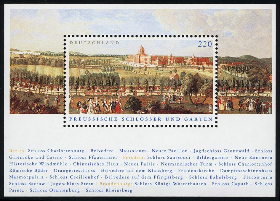 Block 66 Preußische Schlösser und Gärten, postfrisch ** 0
