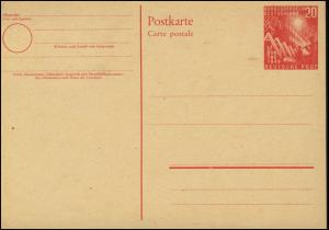 PSo 2 Bundestag 20 Pf. 1949, postfrisch