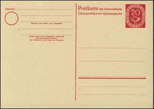 P 15 Posthorn 20/20 Pf ohne Druckvermerk ** wie verausgabt