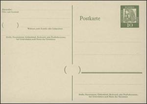 P 60 Dürer 10 Pf Antiqua, ohne Beidruck ** wie verausgabt